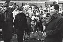 Zahájení slavnosti 100 let železnice Kynšperk – Dasnice.