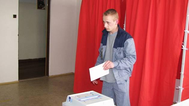 Volby ve Věznici Kynšperk nad Ohří.