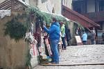 Krušnohorské trhy na hradě Loket.