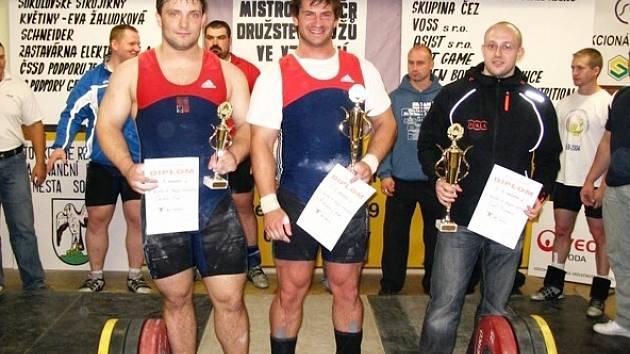 Tři nejlepší podle Sinclairových bodů. Zleva: Jiří Ország, Libor Wälzer, Richard Tkáč