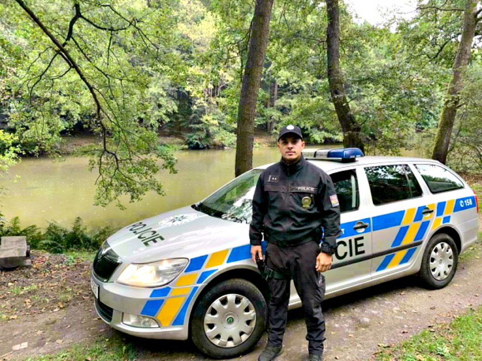 Policista Petr Balog.