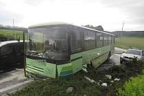 nehoda autobusu u Sokolova
