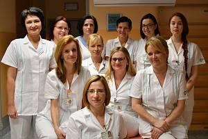 Vrchní sestra Jana Pšeničková (vpředu) a její tým.