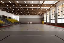 Studie toho, jak by měla vypadat již stojící sportovní hala ISŠTE po modernizaci.