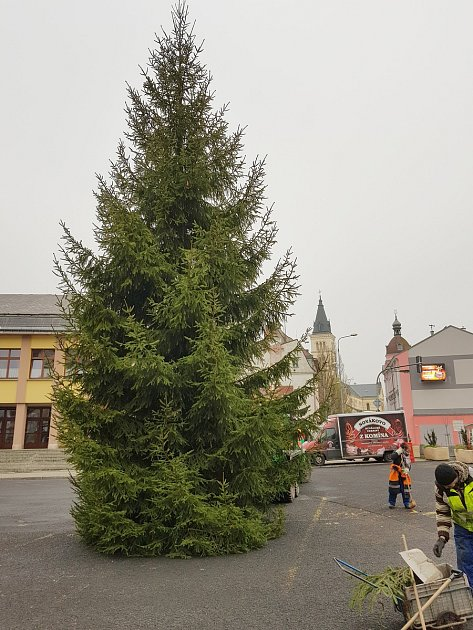 Vánoční strom vKraslicích
