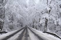 Dolní Nivy zasypal sníh, za který může nejen pára