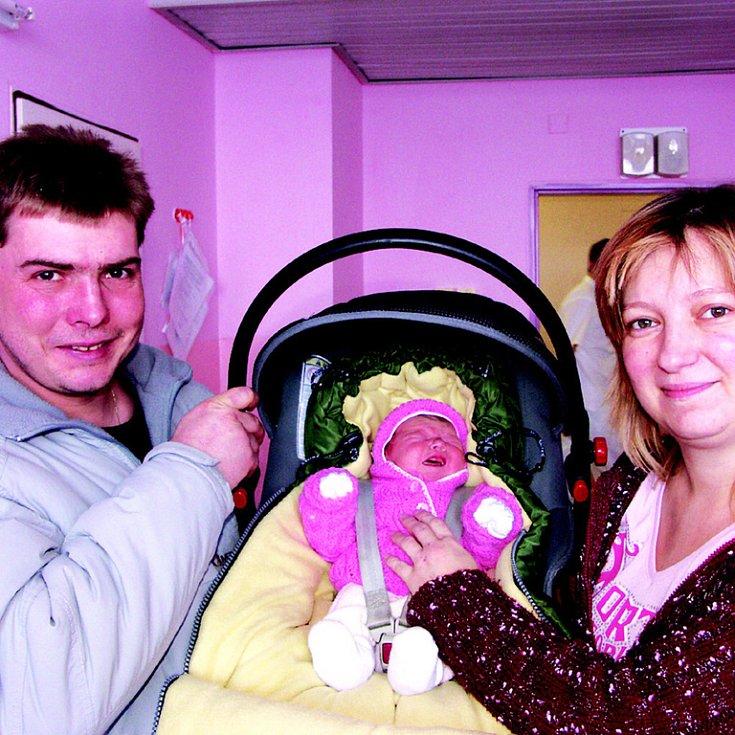 Lucinka Maxová, nar. 6. 1. 2009, 3 200 g, 53 cm.