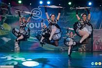 NA SNÍMKU choreografie Suppertime – jazz dance, děti, extraliga, která vybojovala první místo.