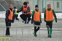 Trénink A - mužstva FK Baník Sokolov