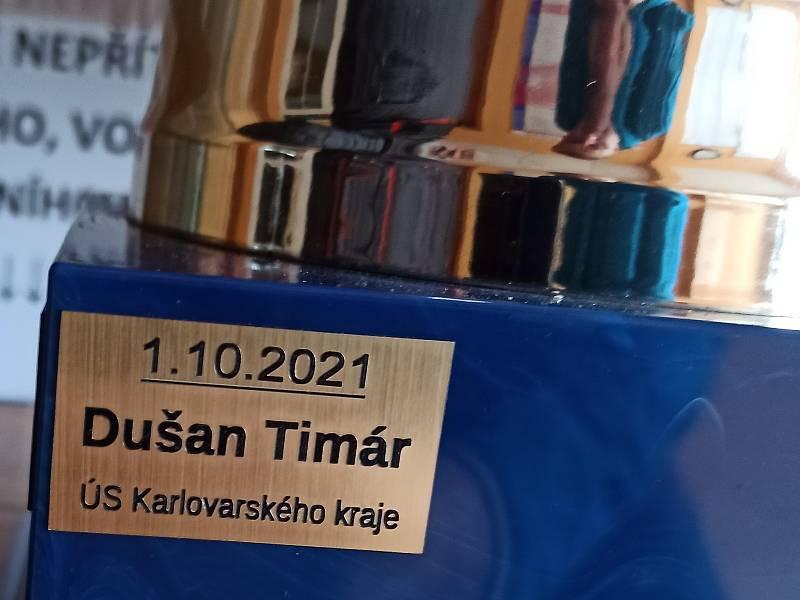 Řidič sypacího vozu Dušan Timár zvítězil v oranžovém rodeu a míří na Hungaroring.