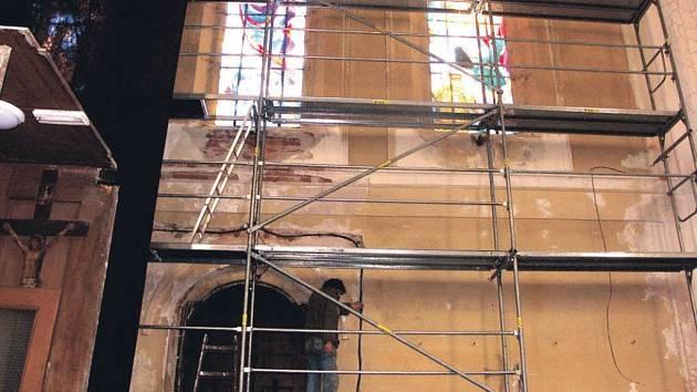 Opravy v kostele svaté Kateřiny probíhají již několik let. V jakém rozsahu se uskuteční, záleží vždy na získaných prostředcích.