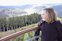 Pohled z vrchního ochozu Cibulky.