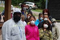 Evakuace dětského tábora Sluníčko v Rotavě