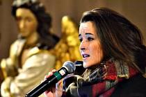 MUZIKÁLOVÁ ZPĚVAČKA Kateřina Herčíková vystoupila v sobotu s hudebními hosty před domácím publikem v tamním kostele. A to pro Nadační fond Ještěřice, který působí v Karlovarském kraji.