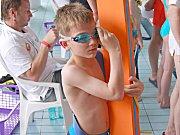 Závody mládeže v sokolovském bazénu.