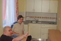 Klienti ve svém novém pokoji
