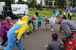 Český animační tým bavil děti.