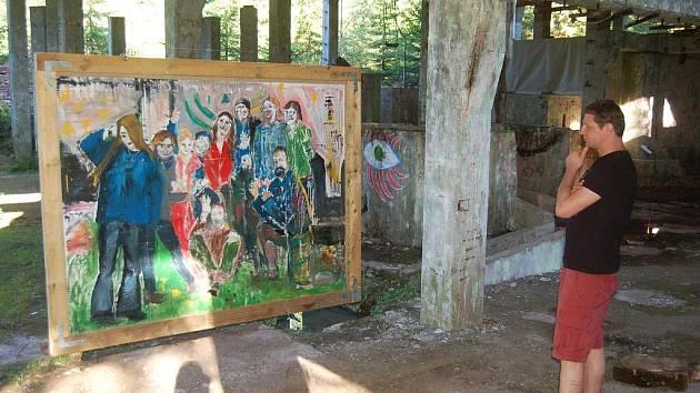 Výstava obrazů na Přebuzi.