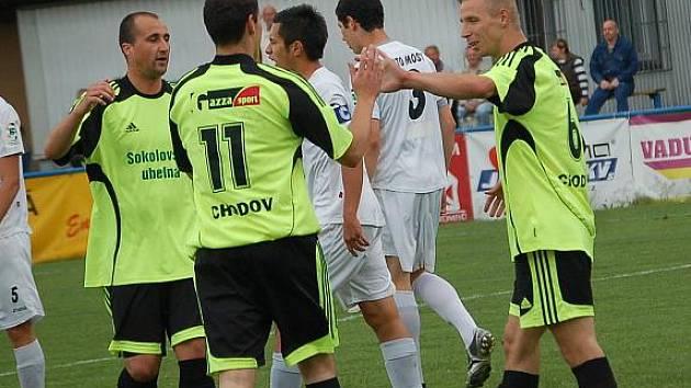 Divize: Spartak Chodov - Baník Most B (v bílém)