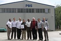 DELEGACE z USA navštívila o víkendu západ Čech a zastavila se i v Rotavě. Na snímku zleva Warren J. Riley, velitel a výkonný ředitel Policie New Orleans,  Rüdiger Voigt, vedoucí obchodu pro zahraničí IBS, C. Ray Nagin, výkonný ředitel Iniciativ CRN, Don B