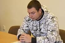 Obžalovaný Josef De Stefanis před plzeňským krajským soudem.