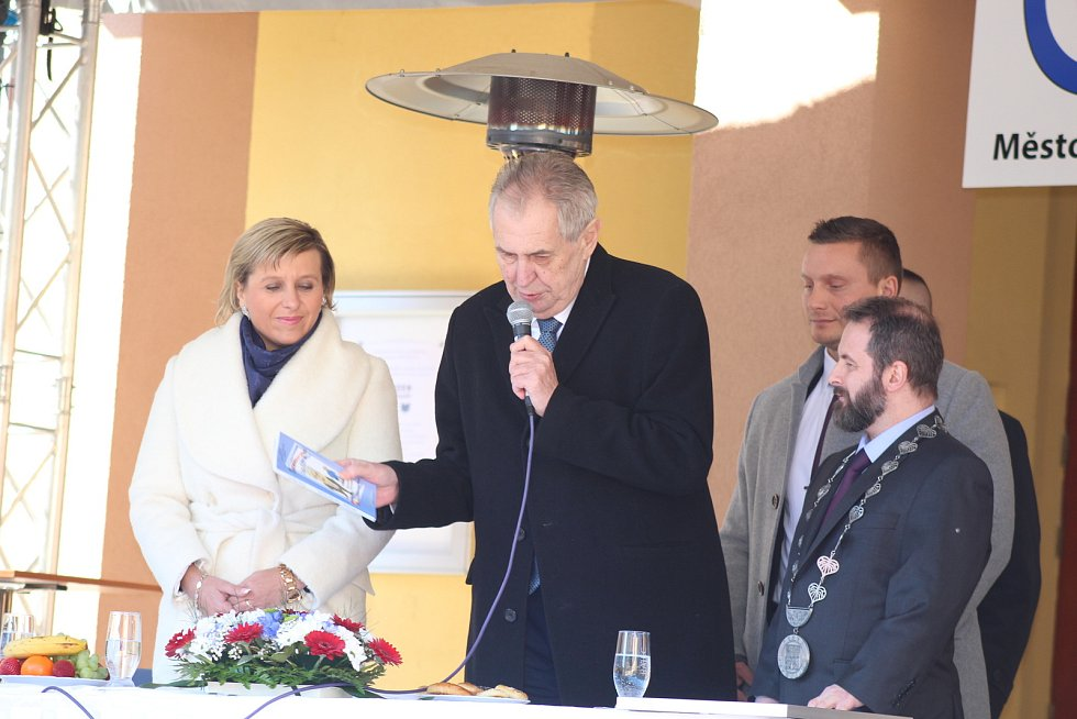 Prezident Miloš Zeman v Kraslicích.