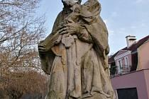 Socha sv. Jana Nepomuckého v Lokti.