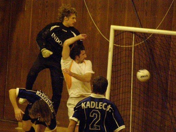 Martin Boček futsalistům Materie k výhře nepomohl, byť vstřelil tři branky.