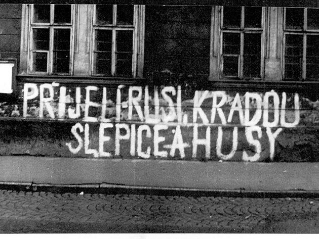Srpen 1968 v Sokolově.