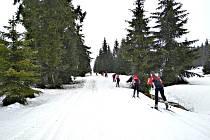 Bílá stopa stále láká. Upravovány jsou páteřní trasy v Krušných horách.