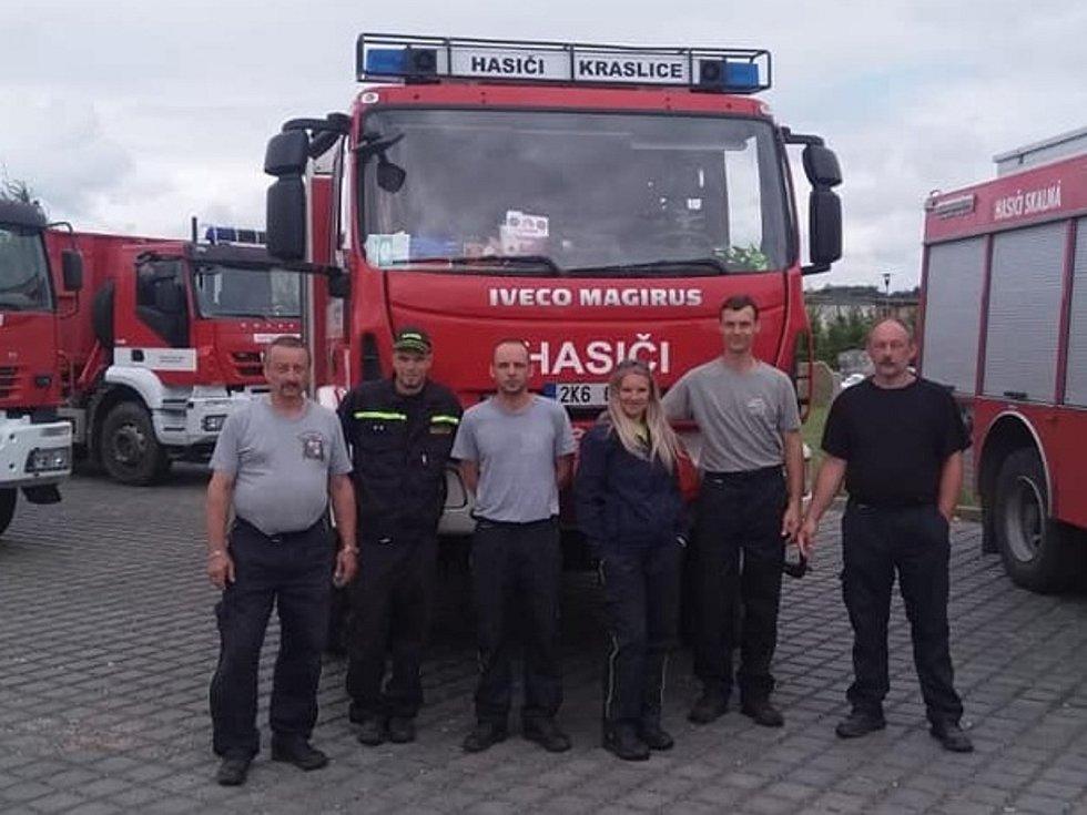 Krasličtí hasiči v akci.
