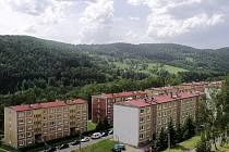 Sídliště v Oloví na Sokolovsku