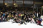 V pátém zápase semifinále play off druhé hokejové ligy sokolovští hokejisté na domácím ledě porazili Vrchlabí 2:1