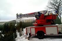Zásah hasičů v Chranišově.