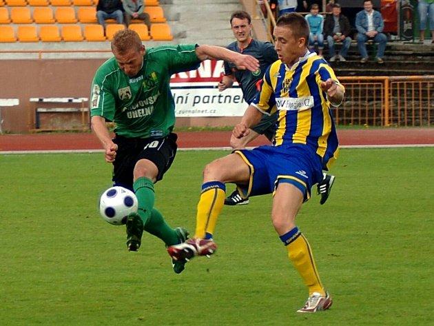 Fotbalové utkání II. ligy Baník Sokolov - SFC Opava