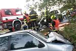 Vážná dopravní nehoda na silnici mezi Starým Sedlem a Sokolovem.