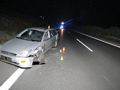 Nehoda nákladního vozu s OA na D6.