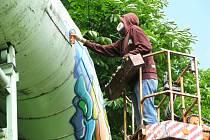Malování na parovod.