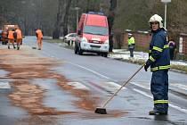 Únik nebezpečné látky v Sokolově.