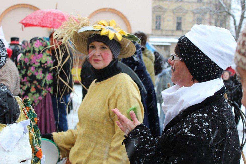 Masopust a šibřinky v Kraslicích.
