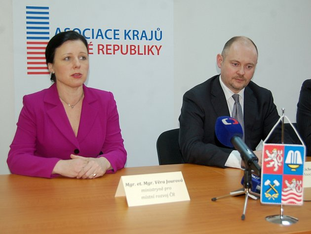 Věra Jourová a Michal Hašek.
