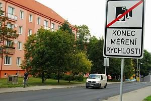 Měřený úsek v Sokolově