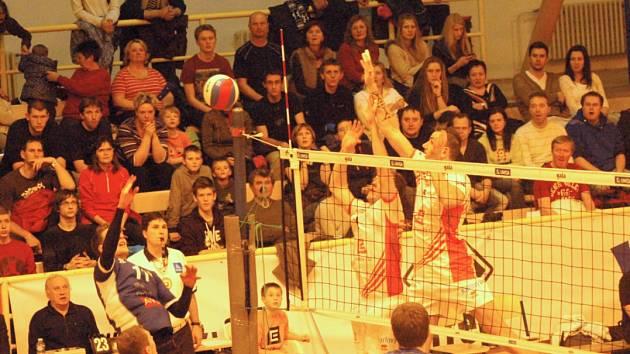 Sokolovská sportovní hala hostila v sobotu utkání volejbalové extraligy