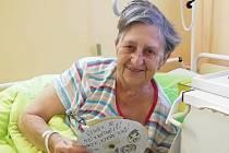 Pohlednice vykouzlily úsměvy na tvářích pacientů.