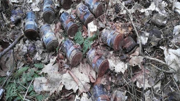 V lese nalezl muž bednu s útočnými granáty, leželo jich tam hned jedenáct.