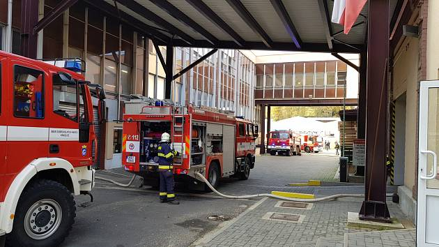 Požár v Sametexu