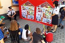 Děti se loučily s Notesem strážníka Pavla.