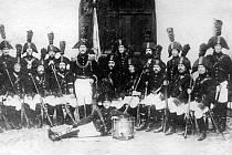 Snímek ostrostřelců z roku 1813.