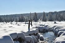 Na Rolavě naměřili minus 27,2 stupně Celsia. Může přijít i arktický den