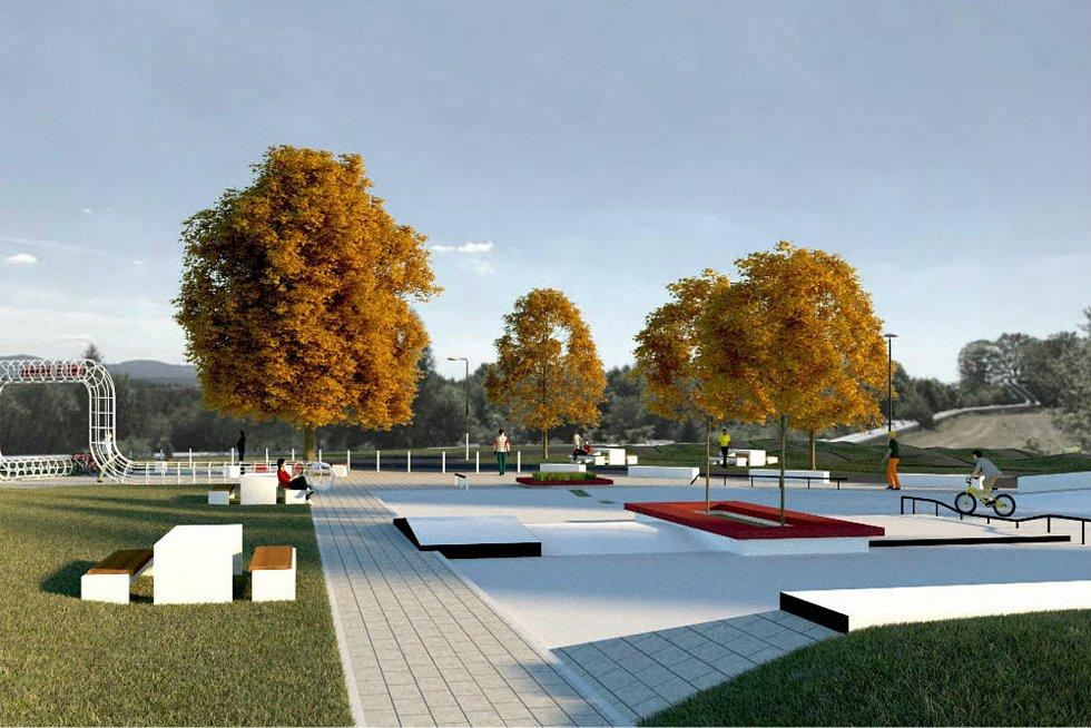 Okolí Bílé vody se změní. Přibude i skatepark.